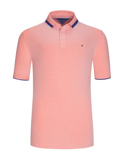 Polo shirt with stretch v RED