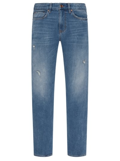 Jeans im Destroyed-Look in HELLBLAU