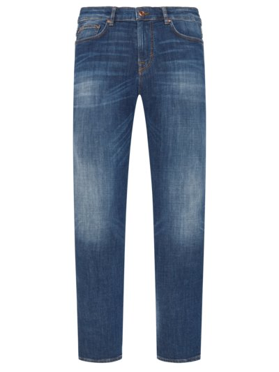 Jeans im Used-Look in BLAU