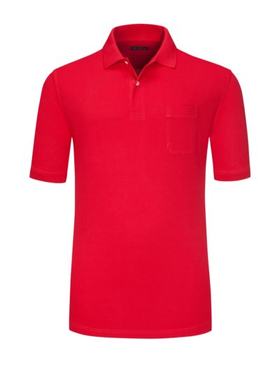Polo shirt with breast pocket v RED