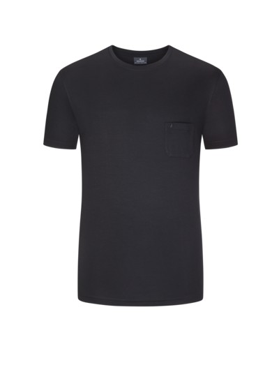 Ragman T-Shirt mit Brusttasche schwarz – Herrenmode in Übergrößen 21e177aee8