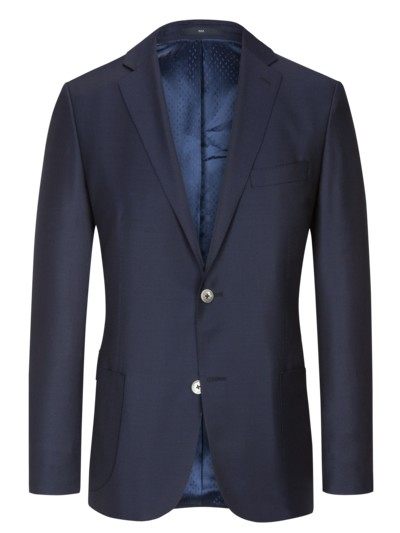 Blazer in fine 150s virgin wool fabric v BLUE