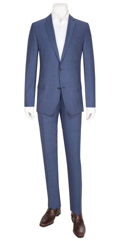 Business suit with striped pattern v ROYAL