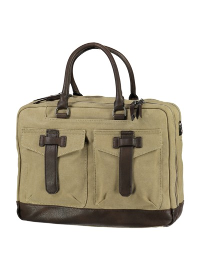 Casual bag made of cotton v BEIGE