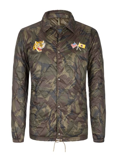 Casual jacket with a camouflage pattern v REED