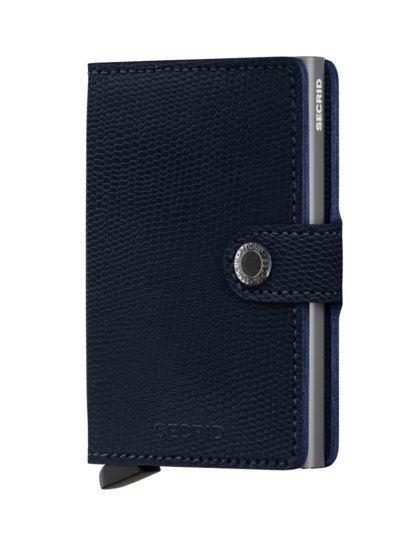 Mini wallet with card protector v BLUE