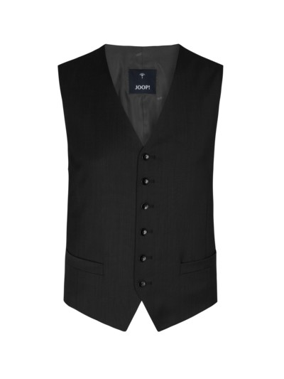 Suit waistcoat with stretch content v BLACK