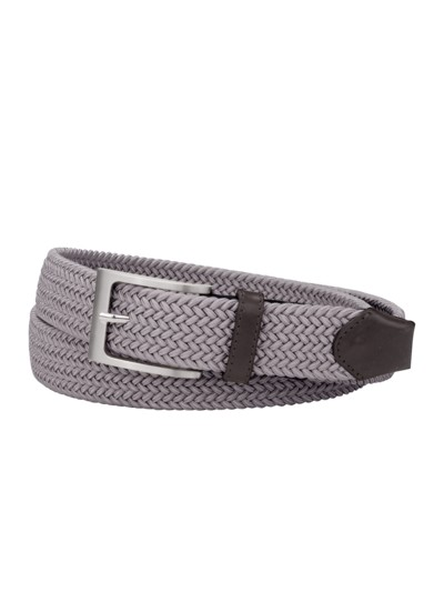 Stylish braided belt v ANTHRACITE