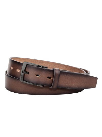Vintage look belt v BROWN