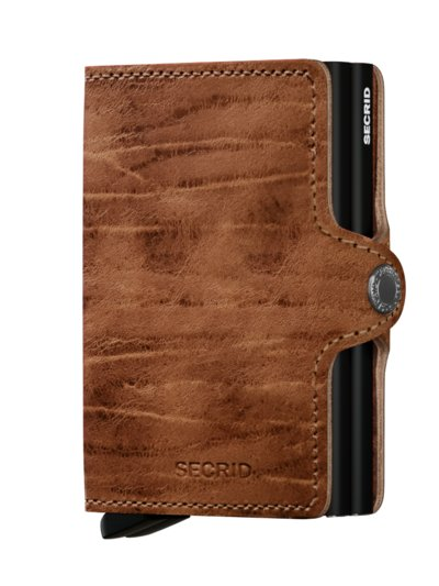 Twinwallet mit Cardprotector in BRAUN