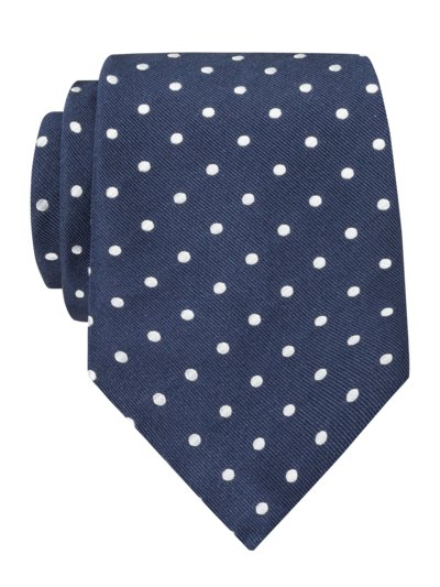 Tie with dotted pattern v MARINE