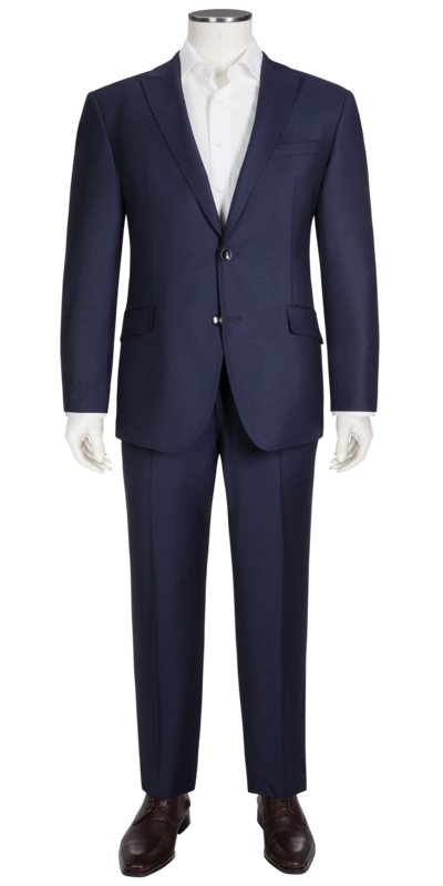 Mix & match suit separates with peaked lapels and stretch content v BLUE