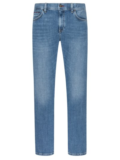 Jeans im Used-Look, Stretch in BLAU