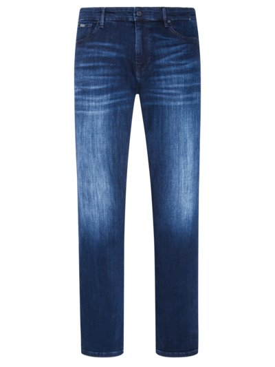 Denim-Jeans im Used-Look in BLAU