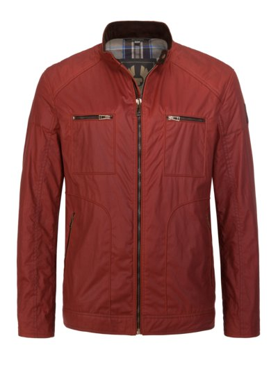 Blouson with washed cotton v RED