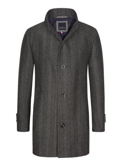Classic coat in a wool blend v ANTHRACITE