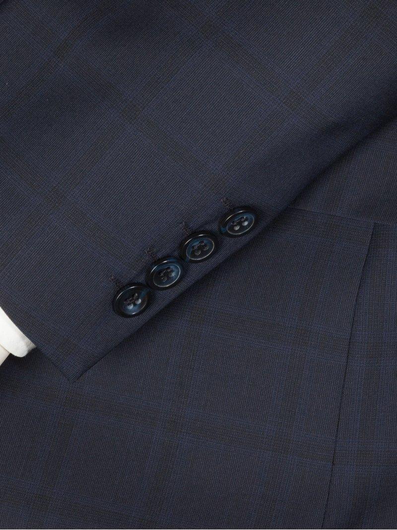 b66ad711bead Tom Rusborg Businessanzug im Karo-Design blau – Herrenmode in Übergrößen