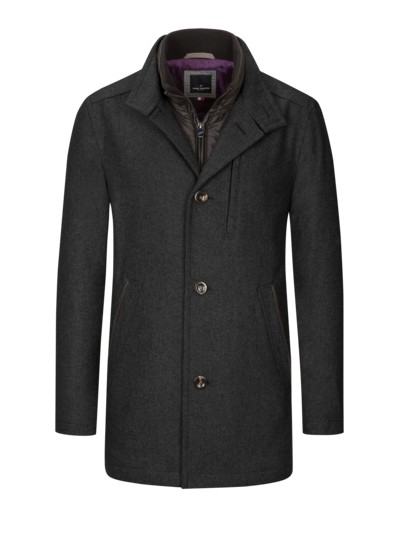 Casual jacket with yoke v ANTHRACITE