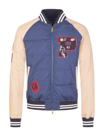 Casual jacket with appliqué v MARINE