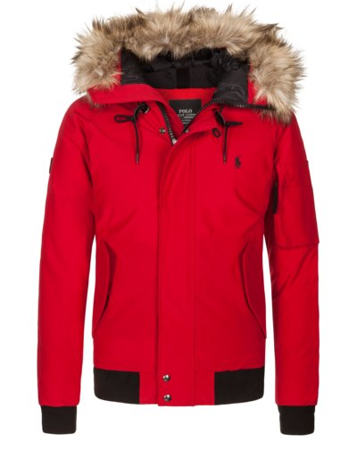Sporty down blouson v RED