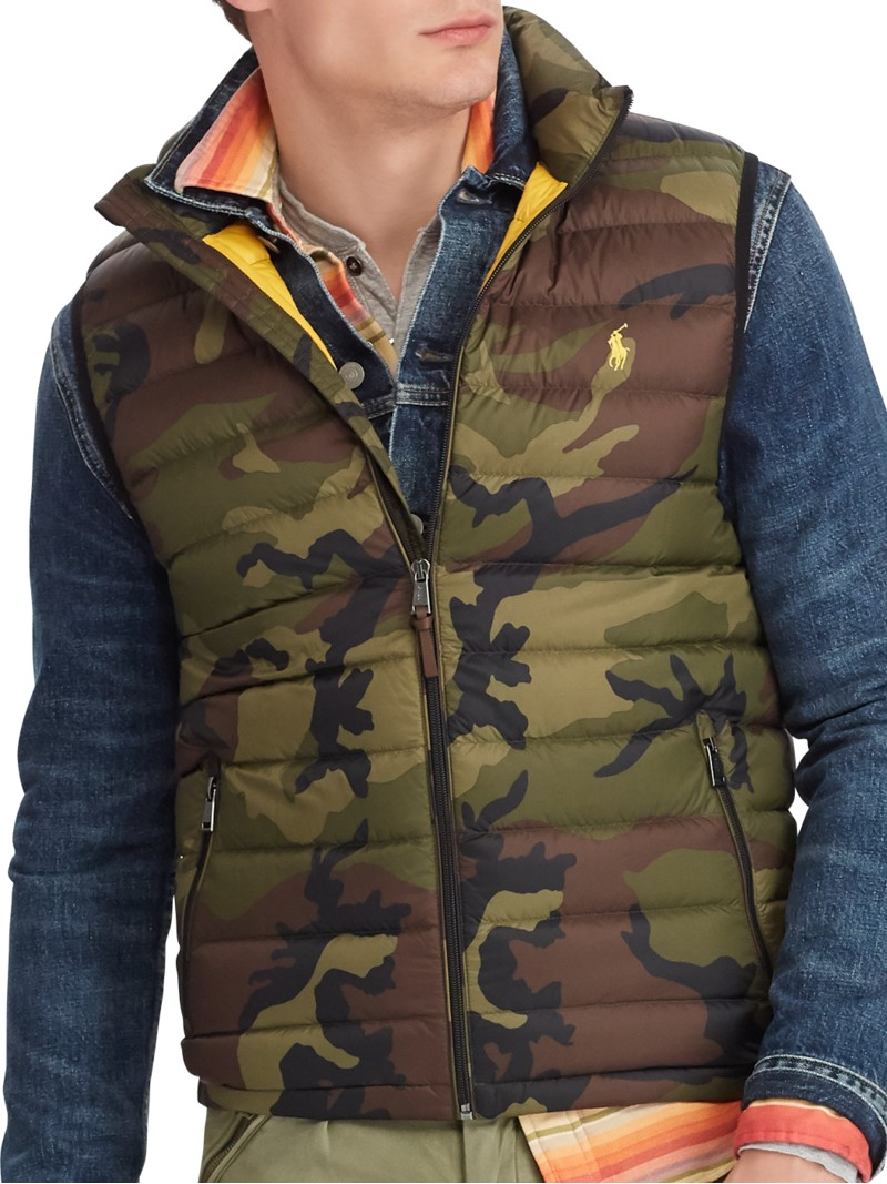 Polo Ralph Lauren Weste mit Camouflage-Muster oliv – Herrenmode in ... 38fb082be7