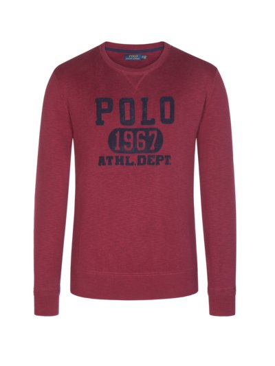 Pullover aus 100% Baumwolle in BORDEAUX