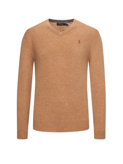 Sweater made of 100% merino wool v COGNAC