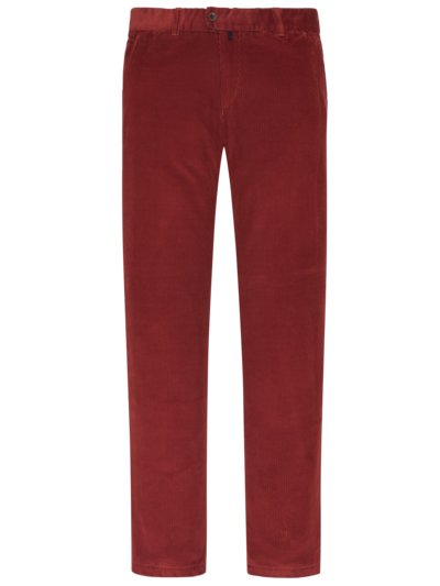 Corduroy trousers in cotton blend, Jim 316 v RED