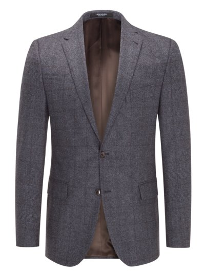 Blazer with glen check pattern v BLUE