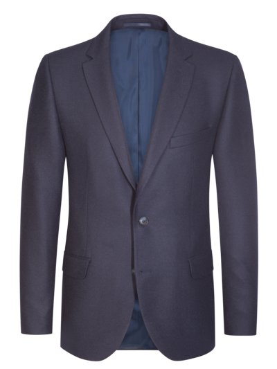 Luxurious camel hair sport coat with micro pattern v BLUE