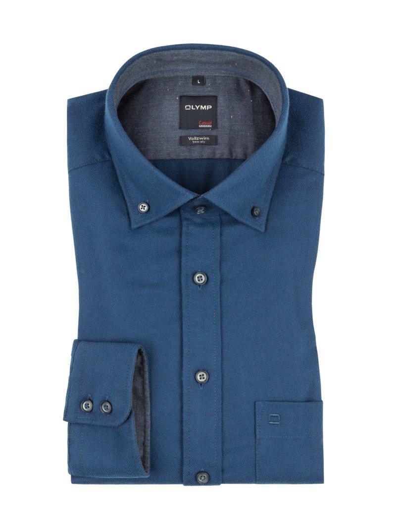 olymp freizeithemd mit brusttasche extralang blau herrenmode in bergr en. Black Bedroom Furniture Sets. Home Design Ideas