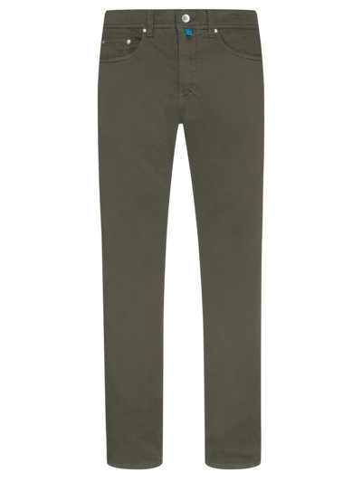 5-pocket jeans in a cotton blend, FutureFlex v OLIVE-