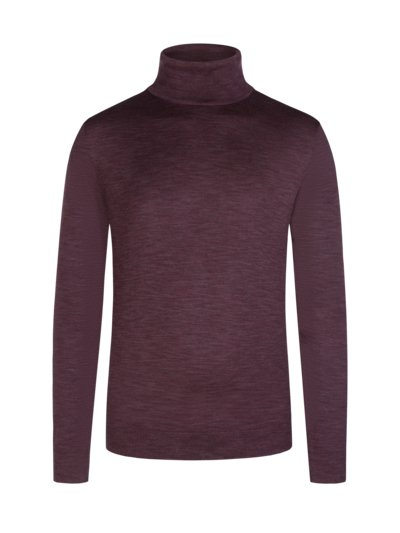 Rollkragenpullover in BORDEAUX