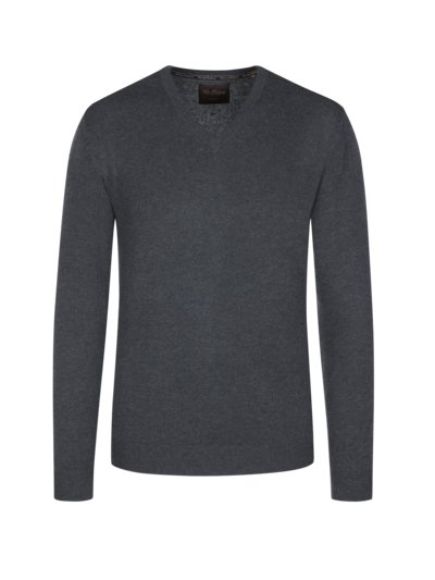 Sweater made of 100% cashmere v ANTHRACITE
