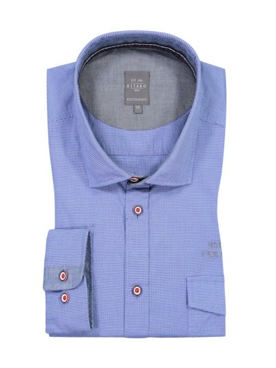 Casual shirt with micro pattern, breast pocket v MARINE