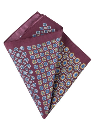 Pocket kerchief with 4 patterns v BORDEAUX
