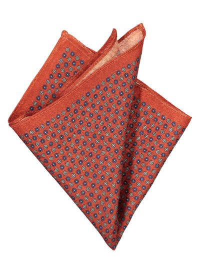 Pocket kerchief with micro pattern v ORANGE