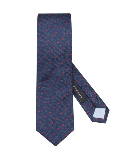 Tie with paisley pattern v BLUE