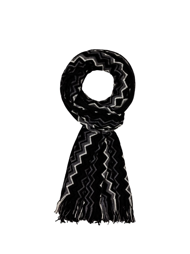 Dante 100% wool scarf BLACK in plus size