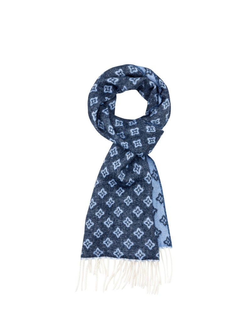 Dante Cashmere blend scarf BLUE in plus size