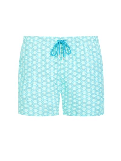 Swimming trunks with anchor pattern v GREEN