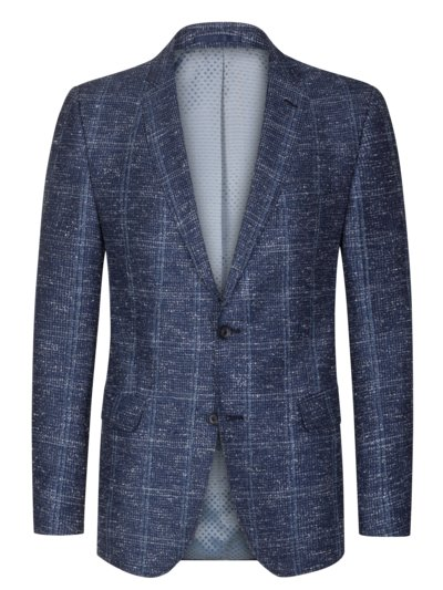 Sport coat with linen content v BLUE