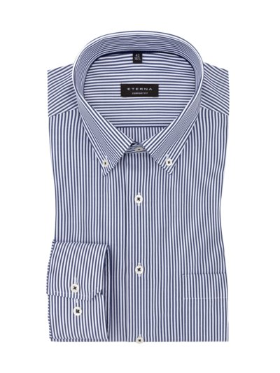 Formal shirt with a striped pattern, extra long v MARINE