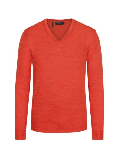 Sweater made of pure virgin wool v ORANGE