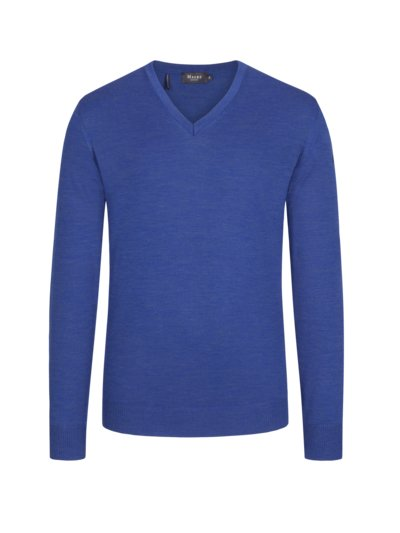 Pullover in melierter Optik in BLAU