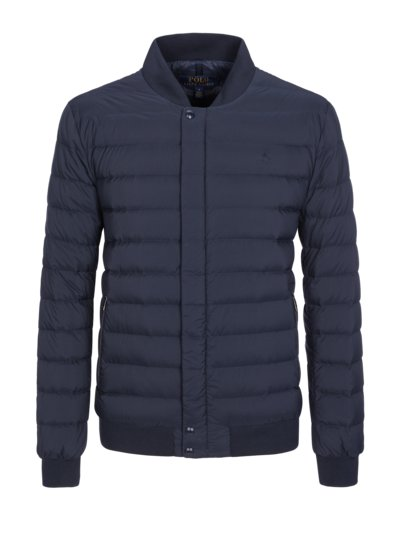 Blouson with quilted pattern v MARINE
