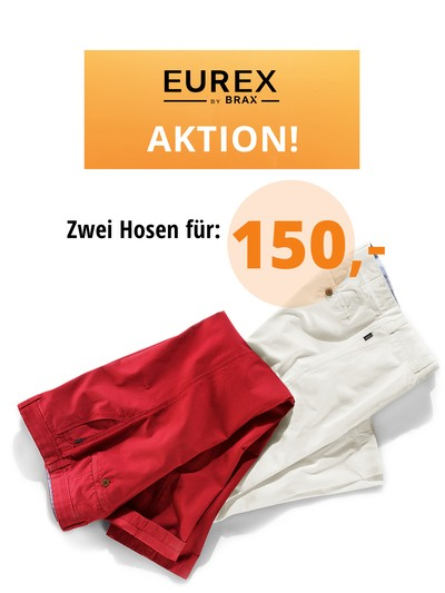 Aktion: 2 Hosen mit Bundfalte = 1 Sparpreis in MULTI