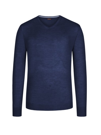 Sweater made of 100% merino wool v MARINE