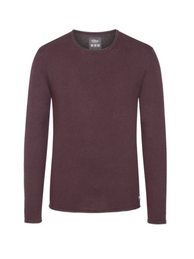 Pullover, O-Neck in BORDEAUX