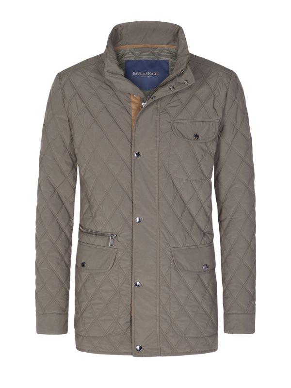 Paul   Shark Klasická prošívaná bunda olivová – Pánská móda v nadměrné  velikosti 35c94045ba